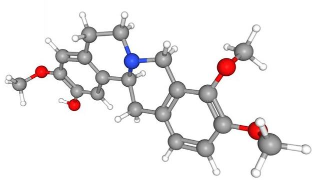 3D structure of Tetrahydrocolumbamine